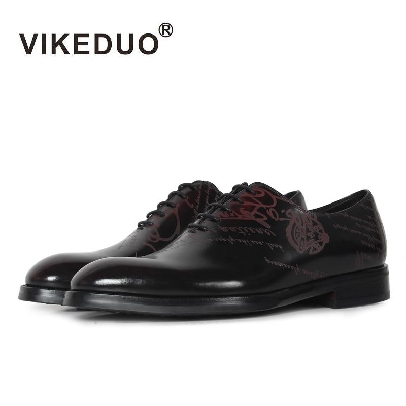 VIKEDUO 2018 Classic Vintage Men Shoes Blake Leisure Genuine Calf Leather Dress Shoe Male Formal Footwear Wedding Office Zapatos цены