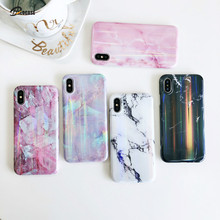 Luxury Laser Marble Soft TPU Phone Case For iPhone 11 Pro Max X XS XR MAX 8 7 6 6S Plus Silicone Cover Capa Funda