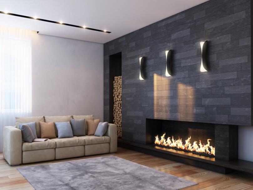 60 Inch Wifi Real Fire Intelligent Smart Ethanol Electric Fireplace Insert Heater