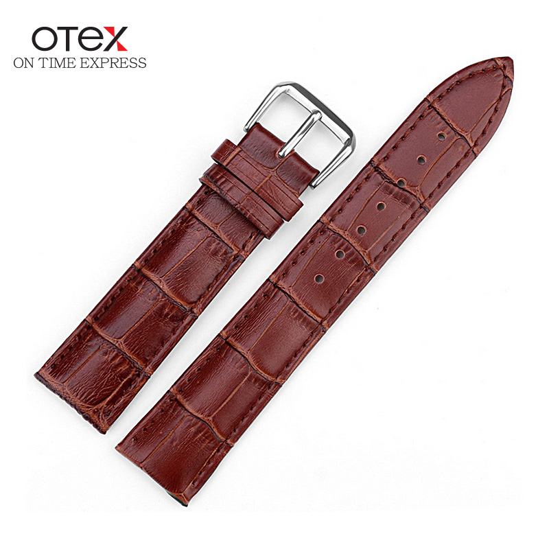 Watch Straps Black Brown Strap Band Genuine Leather Watch Soft Buckle Replacement Serve Mens Watches Mens Watch 2016 12mm to 24m eache silicone watch band strap replacement watch band can fit for swatch 17mm 19mm men women