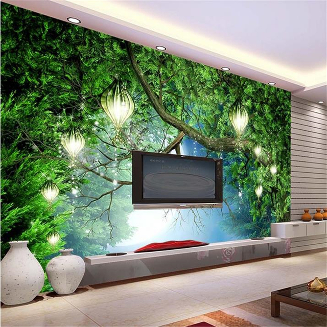 Beibehang 3d Wall Murals Wallpaper HD Dream Forest Backdrop Murals TV  Backdrop Wallpaper Living Room Bedroom
