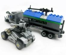 KAZI 89010 209pcs 3D Construction educational Bricks Building Block Sets Derths Truck War Spirit Enlighten for children toys
