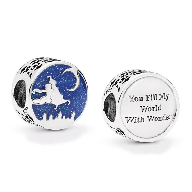 2019 Nieuwe 925 Sterling Zilver Emaille Magic Blauw Tapijt Rit Charm Kralen Fit Voor Pandora Vrouwen Bedelarmband Diy Sieraden