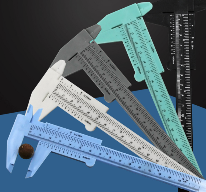 Portable 150MM Plastic Eyebrow Measuring Vernier Caliper Tattoo  Caliper Ruler Permanent Makeup Measurement Tools