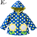 KEAIYOUHUO Children Clothing Embroidery Raincoat 2017 Spring Jacket For Girls Baby Boys Coats Costume Kids Boy Hooded Outerwear