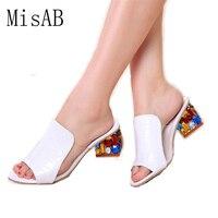 Women Sandals 2016 Ladies Summer Slippers Shoes Women High Heels Sandals Fashion Rhinestone Shoes Sandals Summer