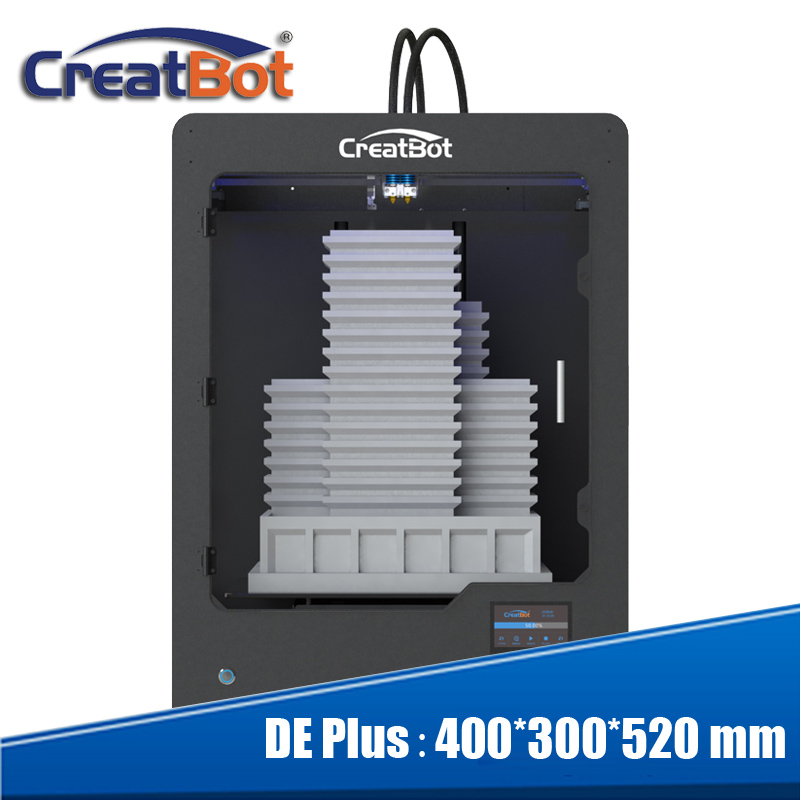 Creatbot DE plus 03 imprimante 3d grand format double triple extrudeuses max 400 degrés E3DV6 genre usine DE porcelaine auto-réexpédié