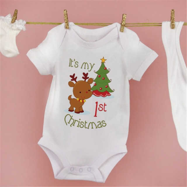 Baby's Christmas Printed Rompers