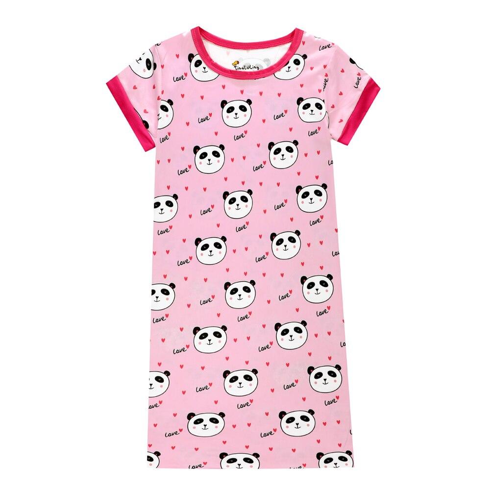 8f5d589d3 New Summer Baby Girls Short Sleeve 3D Printing Panda Cartoon Dresses ...