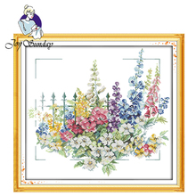 Joy Sunday,Garden,cross stitch embroidery set,printing cloth embroidery kit,embroidery needlework,Flowers picture cross stitch joy sunday magnolia flower cross stitch embroidery set printing cloth embroidery kit needlework flowers picture cross stitch kit