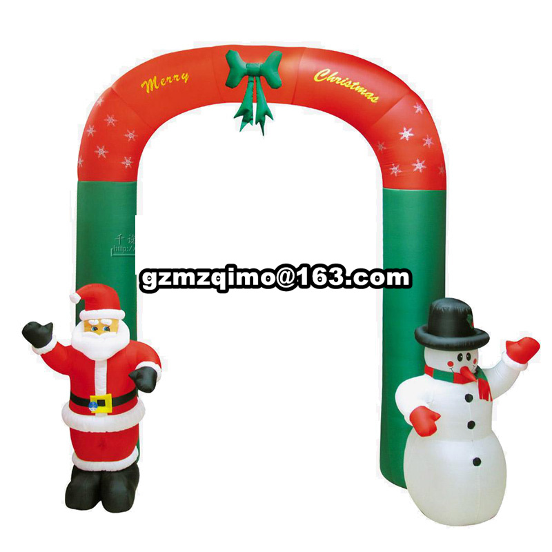 9 by 9 airblown inflatable christmas arch with candy canes&snowman&santa for christmas celebration9 by 9 airblown inflatable christmas arch with candy canes&snowman&santa for christmas celebration