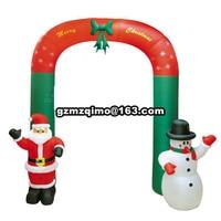 9' durch 9' luftdurchblasen aufblasbare weihnachtsbogen mit zuckerstangen & schneemann & santa für weihnachten feier