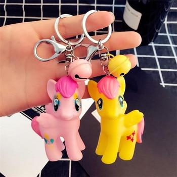 1b185f663 Cute Unicorn Keychain for Women Men Bell colt Keyring Holder Ainme Horse Key  Chains Buckle Cartoon Doll Gift for Kids Women