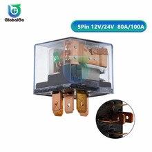 купить 1pcs Car Light Waterproof Automotive Relay 12V 24V 80A 100A 4pin 5Pin Control Car Relays DC Socket Diy Tool дешево