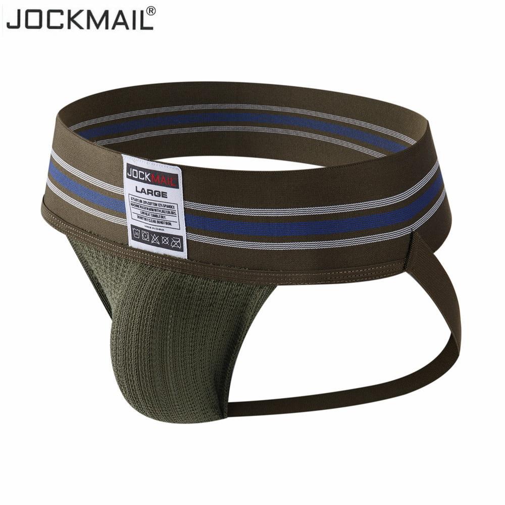 JOCKMAIL Gay Homens Cueca Jockstrap Sexy Homens Tanga String de Moda Hombre Homme Algodão Deslizamento Esportes calcinha Lingerie G Cordas