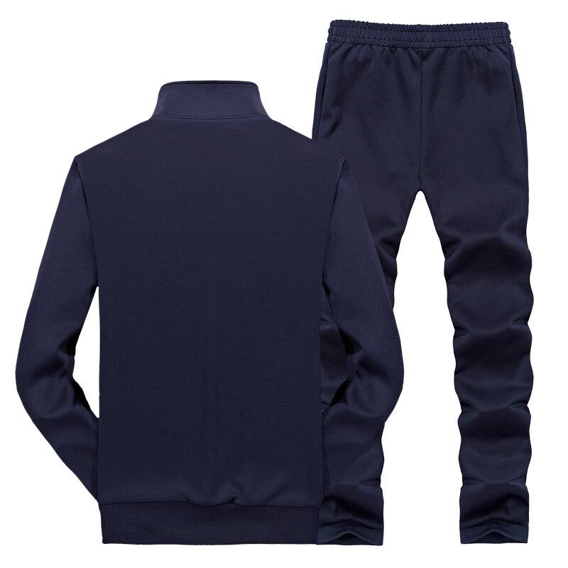 Image 3 - YIHUAHOO トラックスーツ男性 6XL 7XL 8XL 冬秋のツーピース服セットブランドカジュアルトラックスーツスポーツウェア運動着 XYN 8823    グループ上の メンズ服 からの メンズセット の中