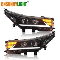CNSUNNYLIGHT For Toyota Corolla 2014 2015 Car Headlight Assembly Cases LED DRL Turn Signal Light Projector Lens Headlamp