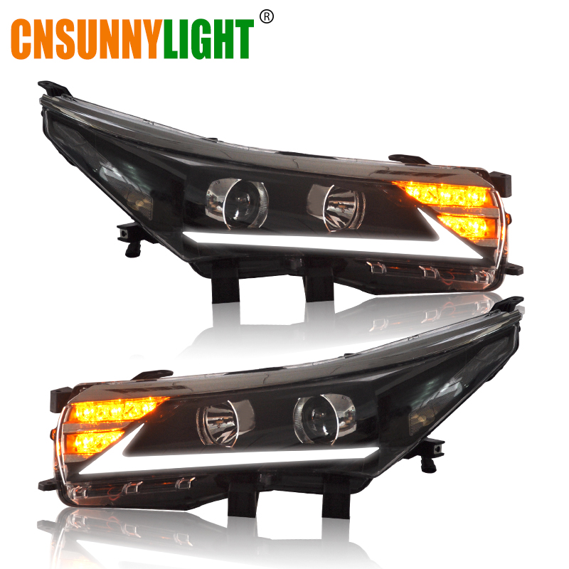 CNSUNNYLIGHT For Toyota Corolla 2014 2015 Car Headlight Assembly Cases LED DRL Turn Signal Light Projector Lens Headlamp сервер hp proliant dl360 848736 b21