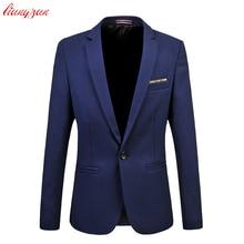 Мужской костюм Бизнес Формальные Для мужчин модные Блейзер Куртка Плюс Размеры M-6XL Slim Fit костюм Блейзер бренд Дизайн мужской Повседневное пиджак v02