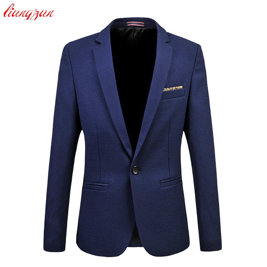 Men Suit Business Formal Men Fashion Blazer Jacket Plus