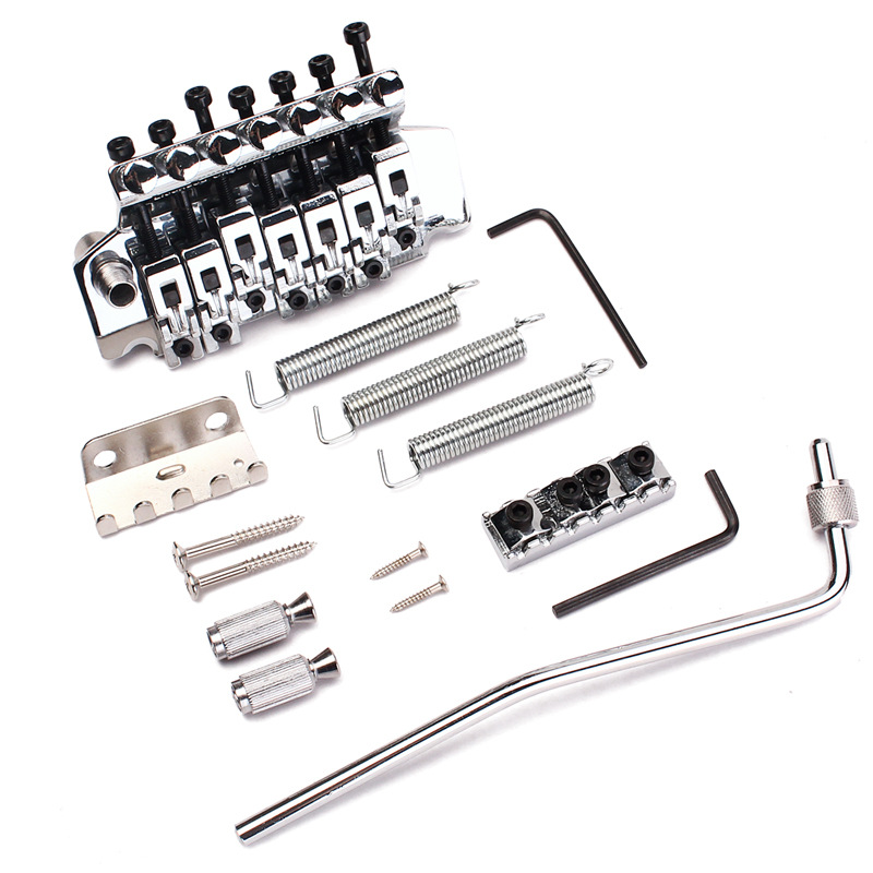 Musical Instrument Accessories Electric Guitar Accessories Electric Guitar Double Arms Bridge Tremolo System tsai hot sale vintage set of single coil pickup neck middle bridge for electric guitar musical instrument accessories as gifts