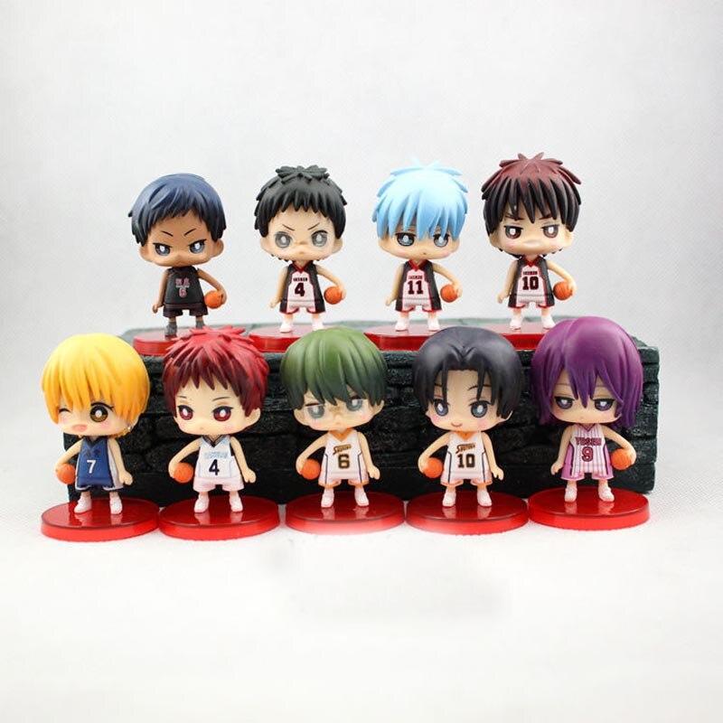 9pcs/set Kuroko no Basket Action Figures PVC Doll Toys 8cm