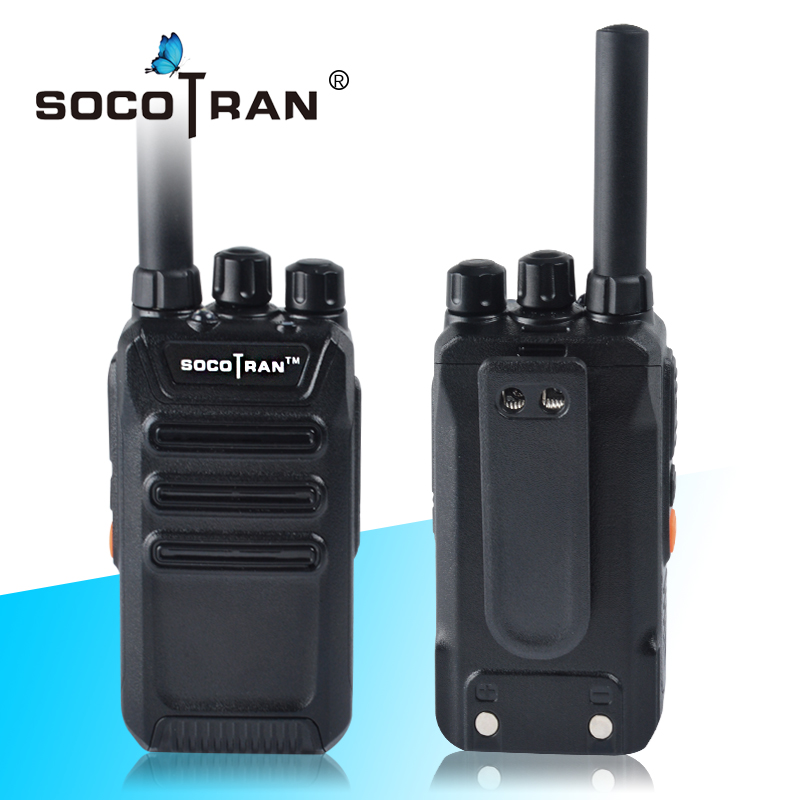Ham Radio Portable Two-Way Radio UHF 400-470MHz Handheld Mini Walkie Talkie 2W Rechargeable Li-ion Battery VOX Scramble SocoTran