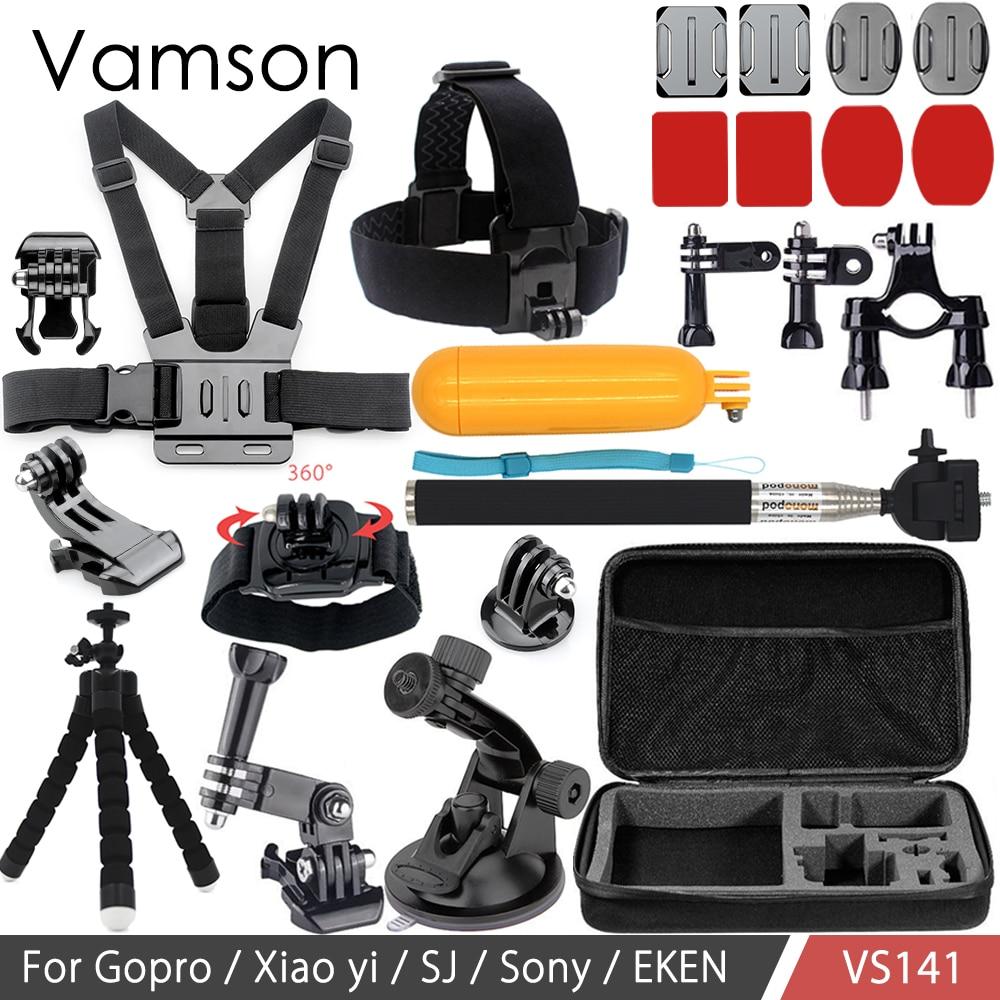 Vamson for Go pro Accessories for Xiaomi for Yi Set Floaty Bobber Monopod Mount Adapter for Gopro Hero 6 5 4 3 for SJCAM VS141