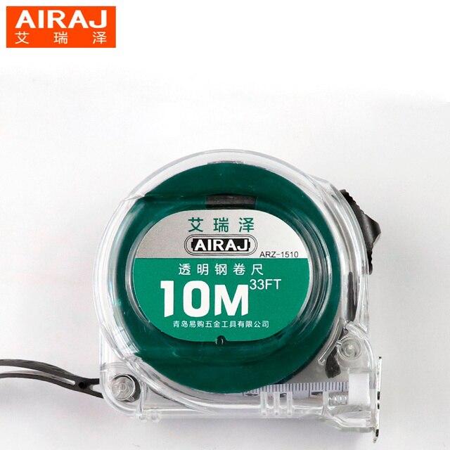 AIRAJ 3/5/7.5/10m Steel Self Lock Measuring Tape Ruler Transplant ...