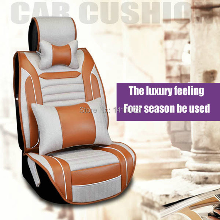 height quality linen and pu universal 5 seats winter car seat cushion seat covers car seat. Black Bedroom Furniture Sets. Home Design Ideas