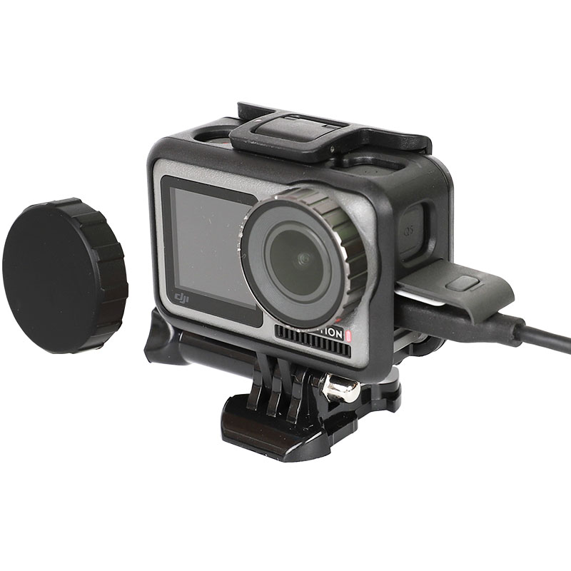 OSMO ACTION Camera Cage Protective Case Mount For DJI Osmo Action Sport Camera Frame Shell Housing W/Lens Cover Accessories