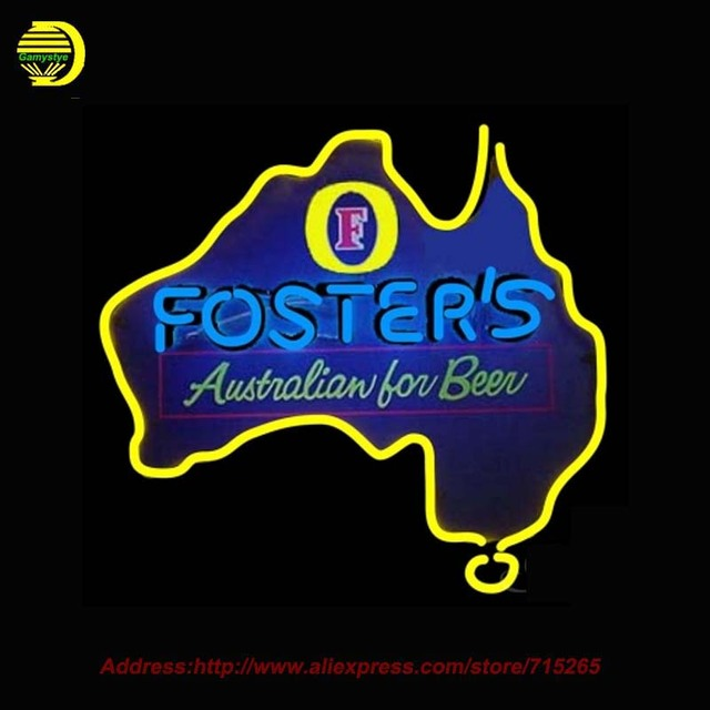 Neon Sign Foster s Australia Beer Light Glass Tube Neon Signs Handcrafted  Recreation Window Room Iconic SignNeon Sign Foster s Australia Beer Light Glass Tube Neon Signs  . Handcrafted Lighting Australia. Home Design Ideas