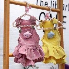 Осеннее платье для собак Одежда для собак для маленьких собачье свадебное платье юбка одежда для щенков Весенняя Одежда для питомцев Чихуахуа йоркские для щенков
