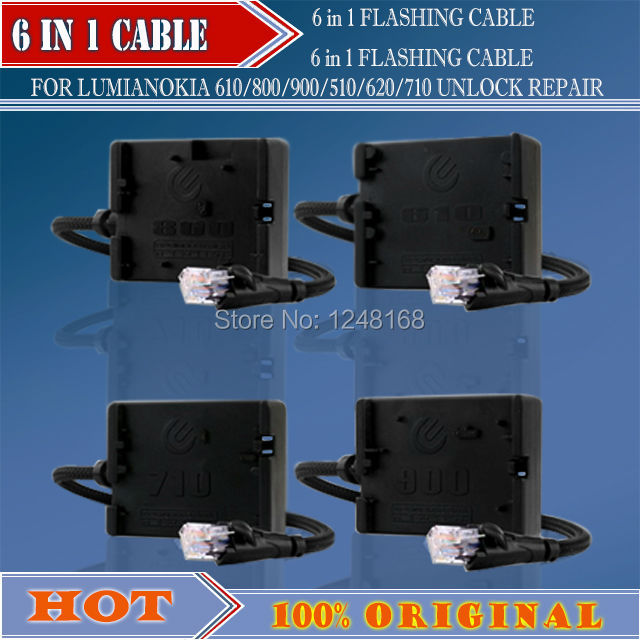 6 IN 1 CABLE FOR NOKIA 610  /800/  900/  510/ 620/  710  CABLE  +Free Shipping