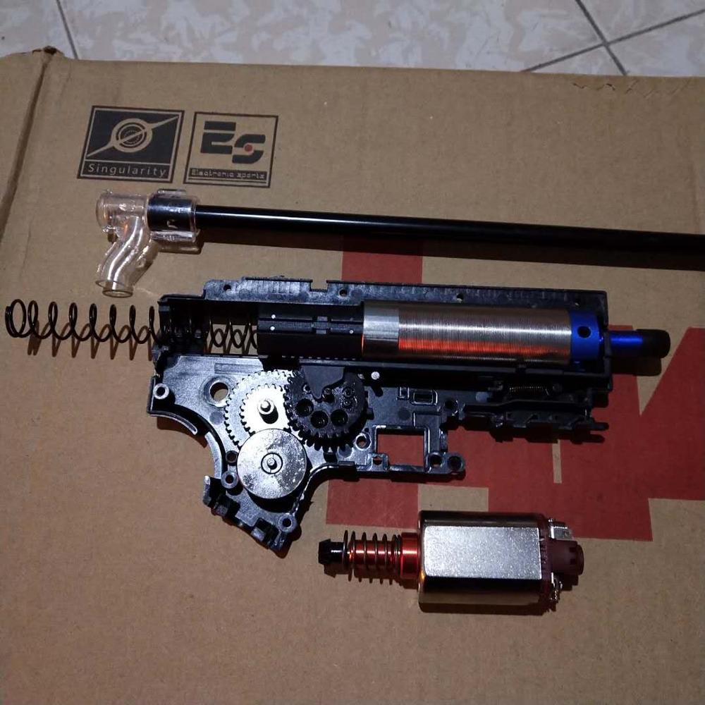 2018 de Alto Desempenho Modificado Kit Para JM Gen.9 M4A1 Modificaton E Atualizar Peças do Kit de Teste de Arma de Brinquedo Caixa de Velocidades Com Alta qualidade