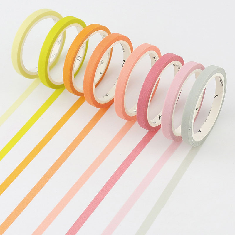 5mmX7m Cute Candy colors rainbow Kawaii Washi Tapes Washi Tape Diy Colorful Adhesive Tape Sticker Stationery School Supplies 24 colors 5mm 7m solid pure color slim diy paper scotch washi tape candy colorful decorative book masking tapes school supplies