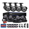 ANNKE 8CH CCTV System HD 2MP 1080P DVR 8PCS 1500TVL IR CCTV Outdoor Home Security Camera