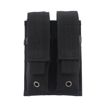 Tactical molle Pistol Double Magazine Pouch 600D Nylon Military Hunting Airsoft Dual Mag Holder Bag holster