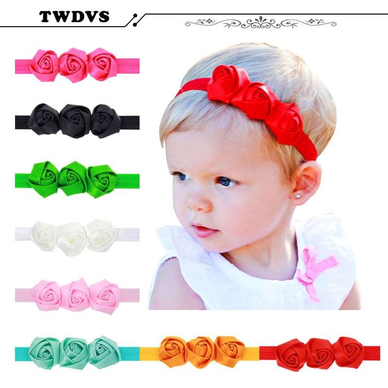TWDVS Headwear Infant Headband Shabby Flowers Lace Net Yarn s