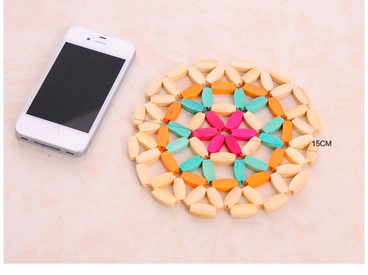 Wooden Dining Table Place mats Pot Cup Mat Heat Insulation Kitchen Accessories Bamboo Tableware Mat
