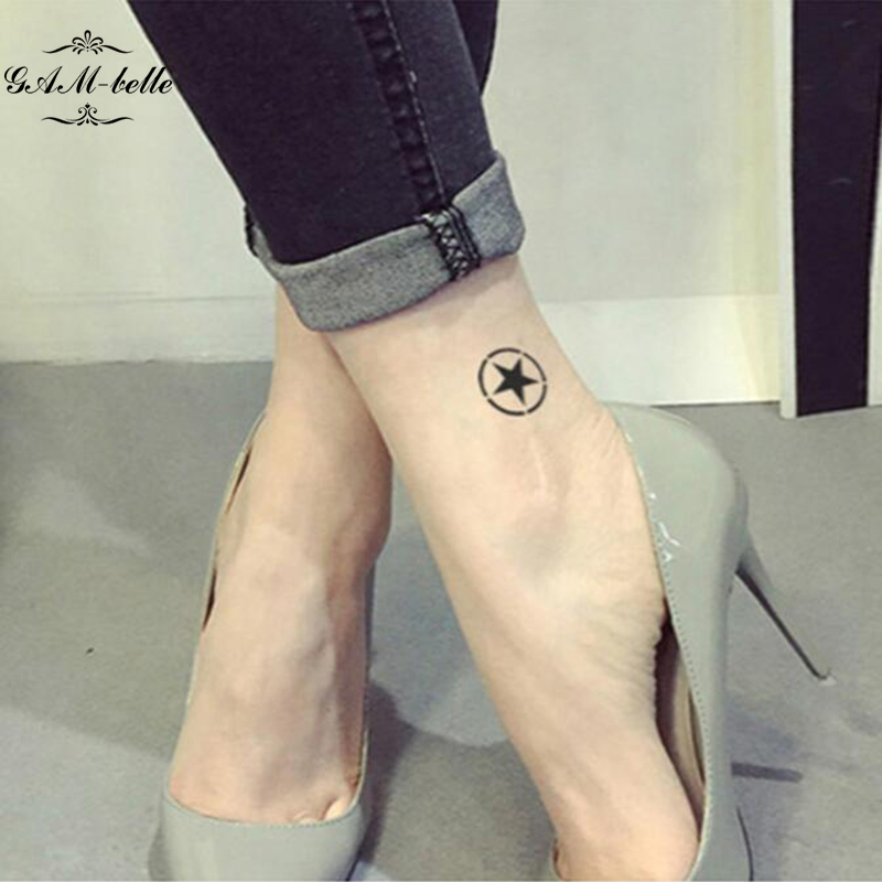 Sexy Tattoo Stickers Waterproof Simulation Lasting Ankle Wrist Shoulder Legs On The Hexagram -2928