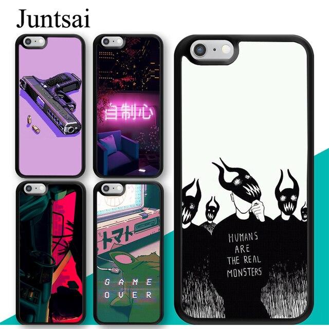 Juntsai Vaporwave Ästhetischen Kunst Gedruckt Für iPhone 6 6 s Fall TPU Zurück Shell Für iPhone X XR XS MAX 7 8 Plus 5 5 s Telefon Abdeckung