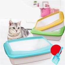 Litter Box Plastic Toilet Enclosed Large Closed Dog Cat Box Toilet Sand Litter Pets BedPan Basin House Restroom Trays QQM2396