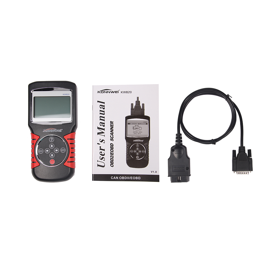 ФОТО KONNWEI KW820 Car Code Reader & Scan Tools OBD2 OBDII EOBD Automotive Fault Diagnostic Scanner Tester