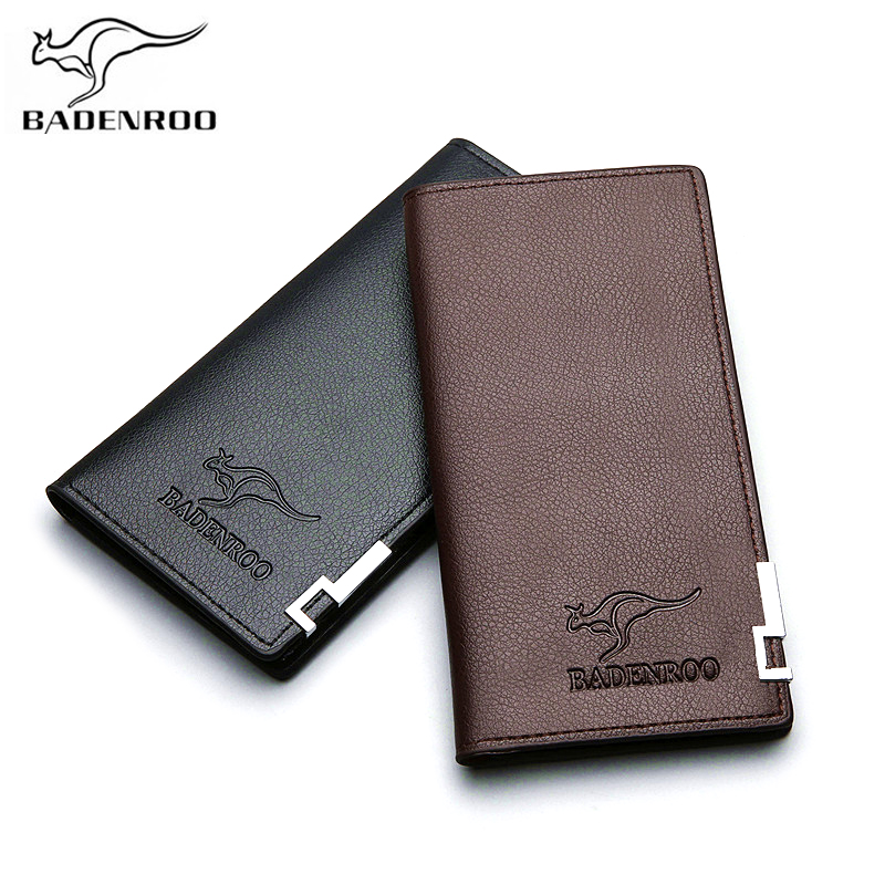 Badenroo Hot Sale Men Wallets Clutch Luxury Brand Leather Long Business Purse Male Rfid Wallet For Coin Phone Card Money Pocket
