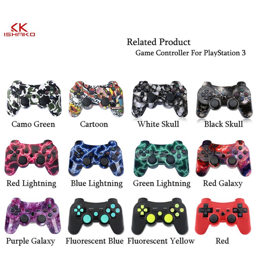 K Ishako For Sony PS3 Controller Gamepad Playstation 3 Console Dualshock Game Joystick Joypad Gamepads in Gamepads from Consumer Electronics
