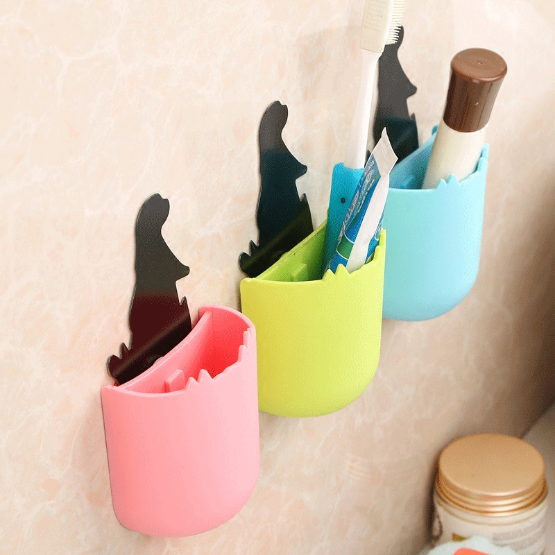 New Arrival 1PC 85*70*40mm Cute Cartoon Shelves Washstand Dresser Modern Minimalist Wall Shelving Seal Cosmetic Storage Box