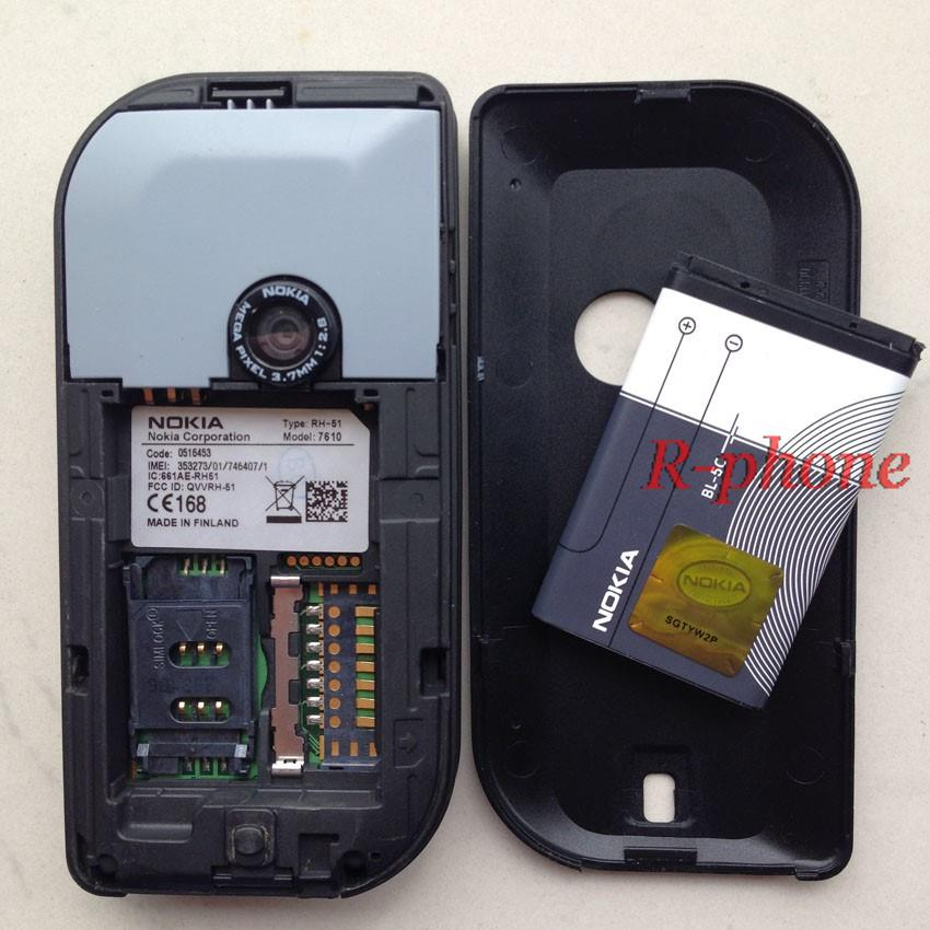 Refurbished phone Nokia 7610 Mobile Phone GSM Tri-Band Camera Bluetooth Smartphone white 7