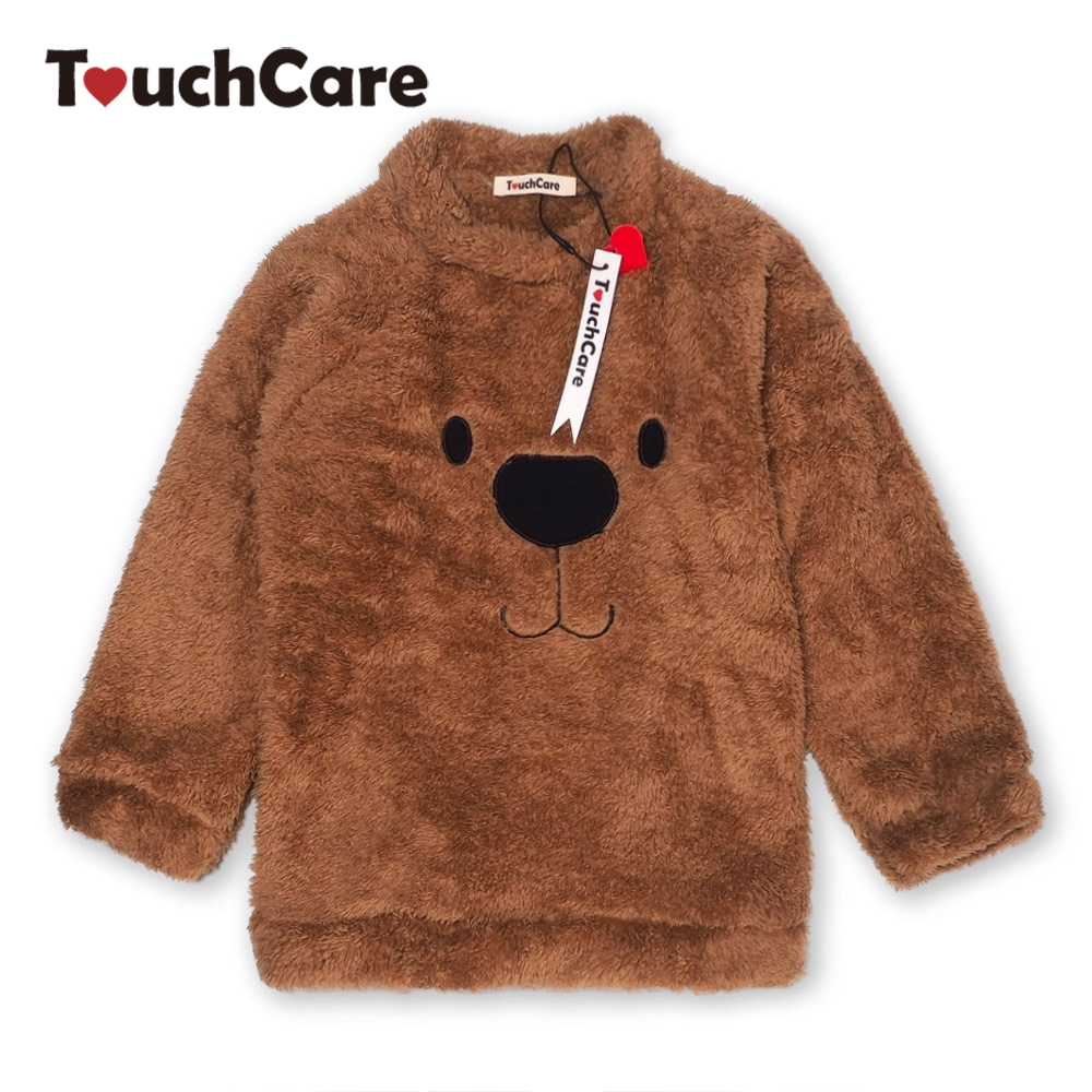 все цены на Newborn Winter Warm Thick Fleece Baby Sweaters Infant Cute Cartoon Animal Bear Kids Pullover Long Sleeve T-shirts Toddler Blouse