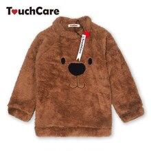 Newborn Winter Warm Thick Fleece Baby Sweaters Infant Cute Cartoon Animal Bear Kids Pullover Long Sleeve T-shirts Toddler Blouse